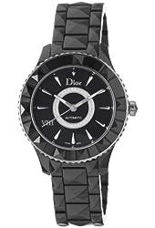 Christian Dior Women's CD1245E0C002 Black VIII Black Diamond Dial Automatic Watch