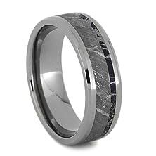 buy Meteorite Ring, Mokume Gane Wedding Band, Titanium Ring