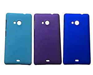 3 Pieces Winsome Deal Exclusive Hard Back Cover Case for Nokia Lumia 535