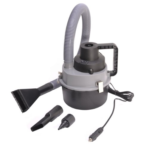 12 V Auto Wet & Dry Canister Vacuum Cleaner - Black