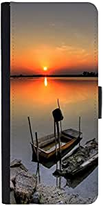 Snoogg Ship Sunsetdesigner Protective Flip Case Cover For Sony Xperia Z1 Compact