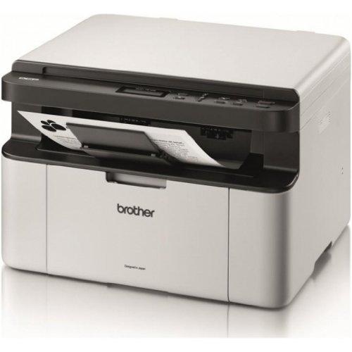 Brother DCP-1510 Stampante Multifunzione Mono Laser a Piano Fisso, Bianco