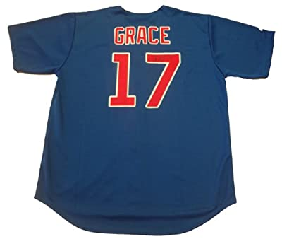Mark Grace Autographed Chicago Cubs Jersey W/PROOF, Picture of Mark Signing For Us, Chicago Cubs, Arizona Diamondbacks, World Series Champion, All Star, Gold Glove Award