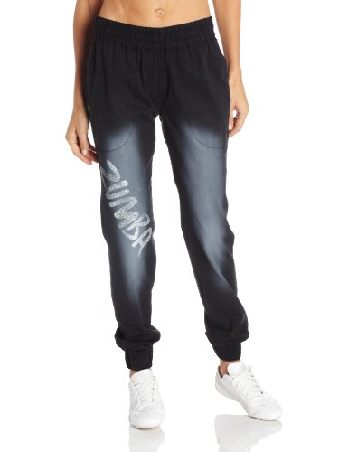 Zumba Fitness Women's Wham Bam Stretch Denim Pant  - Black, Medium