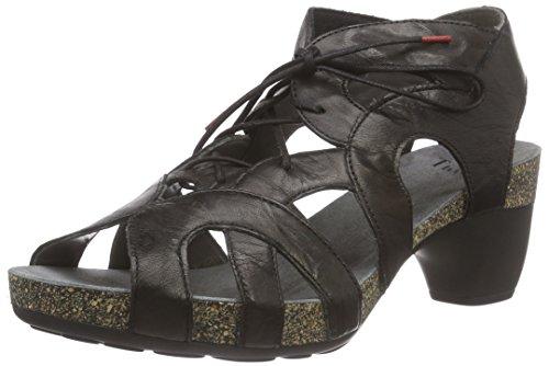 Think!Traudi Sandalen - Sandali con Cinturino alla Caviglia Donna , Nero (Nero (Nero 00)), 38