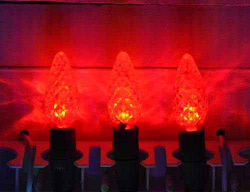 Red Color-Rite C5 Strawberry Mini Led Lights With Removable Bulbs