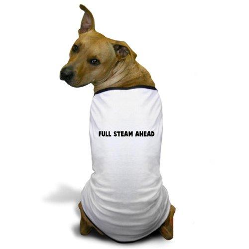 Cafepress Full Steam Ahead Dog T-Shirt - Xl White [Misc.]