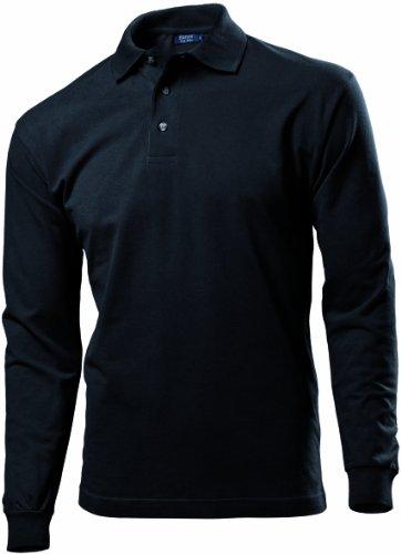 Hanes Mens Long Sleeve Top Pique Polo Shirt In 5 Colours S to XXL