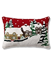 Christmas Village Cushion