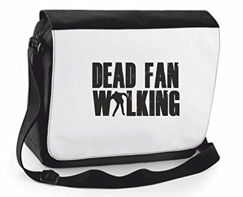 Dead Ventola Walking Zombie Cover Borsa a tracolla Crossbody Borsa Viaggio scomparti, Black, Large (nero) - SB-dead-fan-Black-L