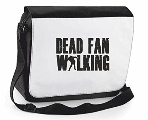 Walking Dead-Zombie-Borsa a tracolla Messenger, Borsa a tracolla, borsa da viaggio, Black, Large (Nero) - SB-dead-fan-Black-L