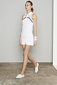 Sleeveless Mesh Yoke Tennis Dress
