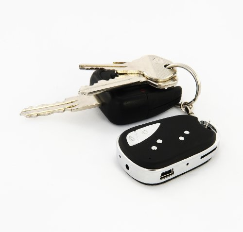 Mini DVR Camera On Car Remote Key Ring/ Keychain Fob - Audio Surveillance and High Resolution Video Recording. Takes Up to 16GB Micro SD Card.