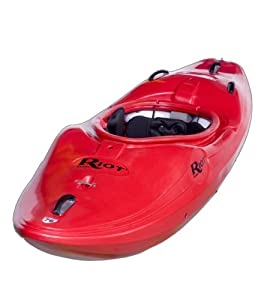 Thunder 76 Riot Kayaks Thunder 76 Whitewater River Running Kayak (Red, 8-Feet) from Riot Kayaks