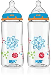 NUK Advanced Orthodontic Bottle in Boy Colors, 10-Ounce, 2 Count (Discontinued by Manufacturer)