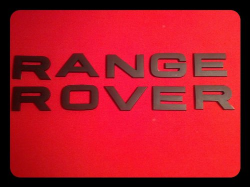 RR BLACK LAND ROVER RANGE RANGEROVER EMBLEM LOGO BADGE LETTERS HOOD TRUNK HSE (Black Range Rover Letters compare prices)