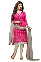 Style Amaze Chanderi Pink Dress Material