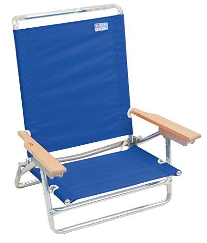 Rio Beach 5 Position Classic Lay Flat Beach Chair, Pacific Blue (Low Profile Beach Chair compare prices)