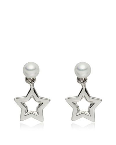Pearls of London Pendientes South Seas Shell Blanco