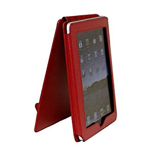CaseCrown Synthetic Leather Vertical Flip iPad Case (Red) for the Apple iPad Wifi / 3G Model 16GB, 32GB, 64GB