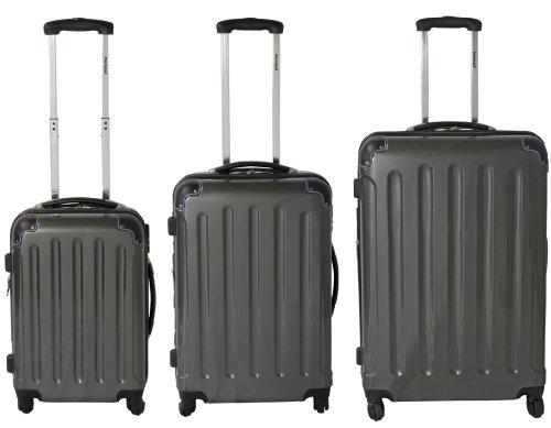 Polycarbonat ABS Kofferset 3tlg Anthrazit 70cm/60cm/50cm
