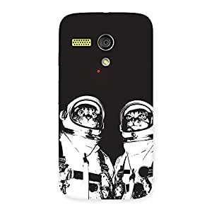 Enticing Cat Astro Back Case Cover for Moto G