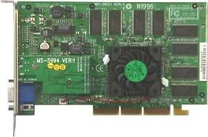 MSI MS-8831 GeForce2 Pro 64MB AGP VGA S-Video (669) NEU