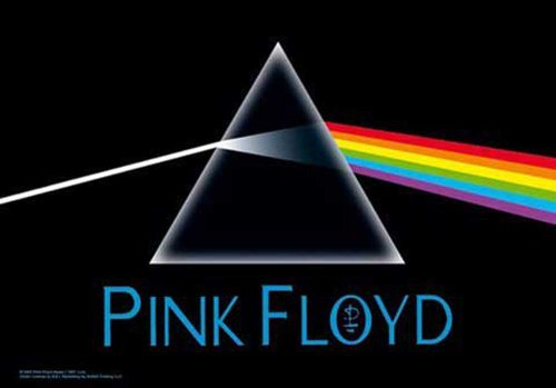 Pink Floyd-Dark Side of the Moon-Bandiera Poster 100% poliestere-dimensioni 75x 110cm