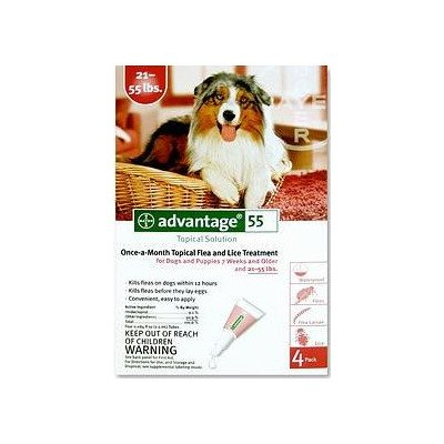 Flea Medication For Dogs Supply Size: 4 Month Supply, Pet Weight: 21 to 55 lbs