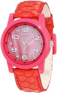 Sprout Women's ST/2701PMPK Diamond Dial Pink Carp Fish Scale Strap Bio-Degradable Watch