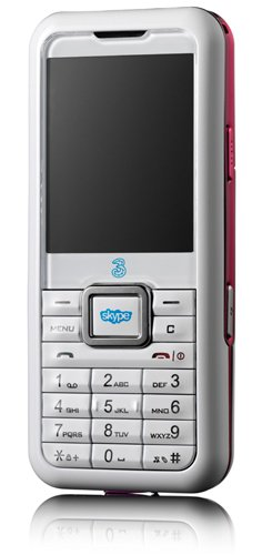 3 Skypephone Mobile Phone - Pink/White