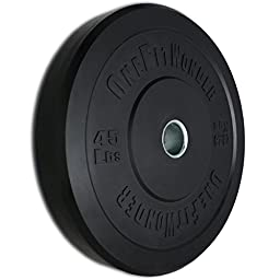 45lb Black Bumper Plate Pairs by OneFitWonder - Weightlifting & Strength Training Equipment