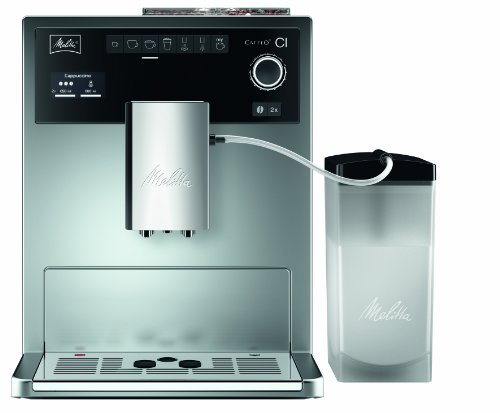 Melitta E 970-101 silber Kaffeevollautomat Caffeo CI (One-Touch-Funktion, LCD-Display, Milchbehälter,  Cappuccinatore) thumbnail