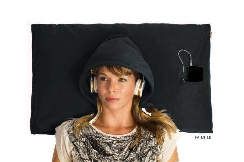 Hoodiepillow Hooded Pillowcase - Black