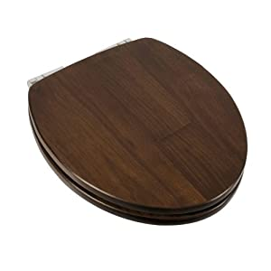 Comfort Seats C1b1rs19ch Solid Wood Round Toilet Seat