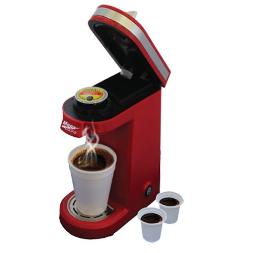 Mega Cocina Single Serve Compact K-Cup Brewer, Red
