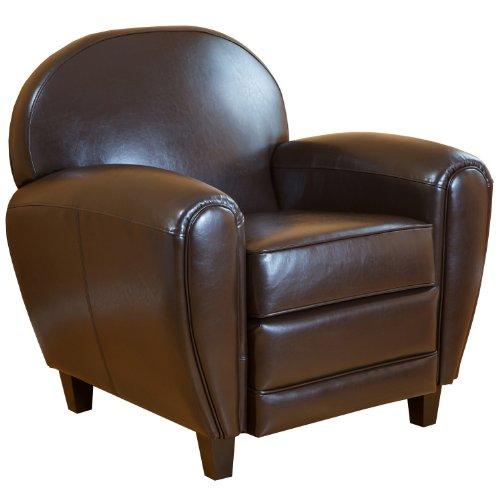 bbc BEST David Brown Leather Club Chair