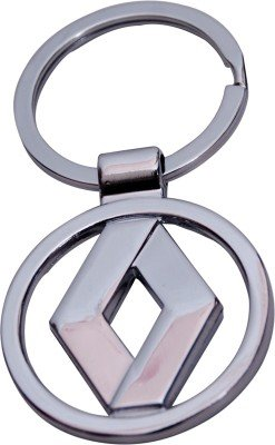 Renault Silver Metallic Key-Chain By KartString