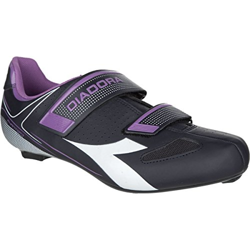 Diadora Phantom II Cycling Shoes - Women's Dk Smoke/White/Violet Orchid Iris, 37.0
