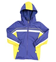 iXtreme Infant Baby Boys Royal Blue Yellow Hooded Spring Lined Raincoat Jacket