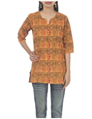 Rajrang Hand BLock Printed Cotton CasuaL Kurta Top Size XXL