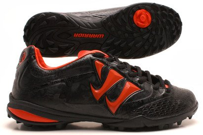Skreamer Combat TF Kids Football Trainers Black/Spicy Orange
