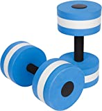 Trademark Innovations Water Aerobics Aquatic Exercise Dumbbells (Blue, .66 lbs, 11 x 6-Inch, Set of 2)