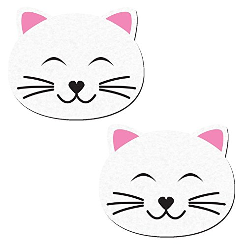 Kitty Cat Happy Nipple Pasties in White Pastease o/s