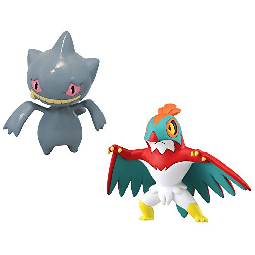 Pokémon 2 Pack Small Figures, Hawlucha And Banette