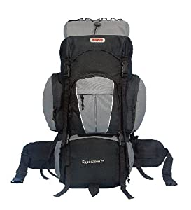 CUSCUS 5400ci 75+10L Internal Frame Backpack Hiking Camp Travel Bag Gray