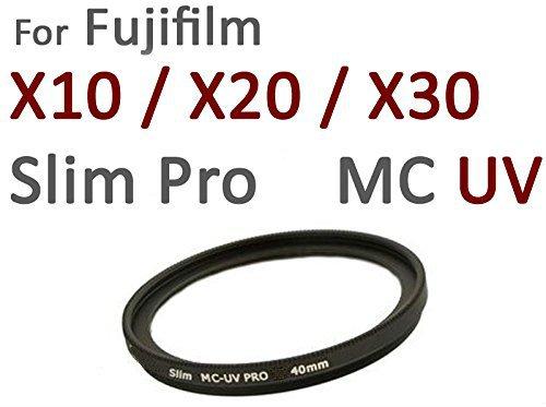 Camera Plus - Professional Slim 40mm S-PRO1 MC-UV Multi Coated 40mm UV Filter - special size 40mm for Fuji X10 and X20 X30 + free aluminium Screw-in filter caps