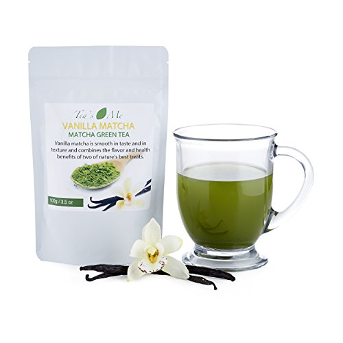 Vanilla Matcha Green Tea Powder-Organic Japanese Culinary Matcha Tea w/ Natural Vanilla Extract- Great for Tea, Smoothie or Latte - 3.5 oz (Green Tea Wine compare prices)