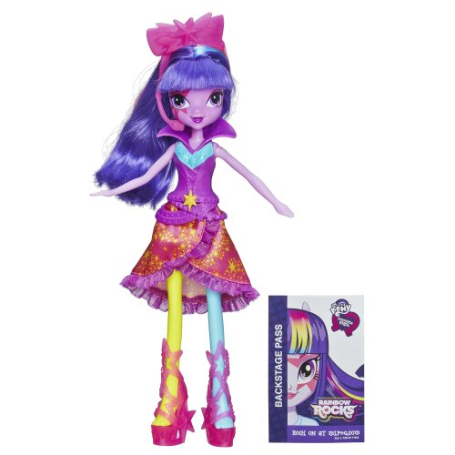 My Little Pony Equestria Girls Twilight Sparkle Doll (Neon Rainbow Rocks) - 1