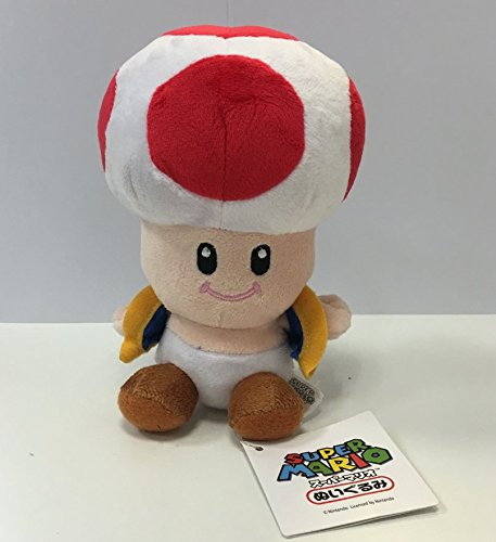 Nintendo Official Super Mario Toad Plush, 6""